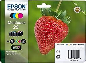 Epson C13T29864012 - Cartucho de tóner para XP235, negro, amarillo, magenta, cian, paquete estándar válido para los modelos XP-235, XP-245, XP-247 y otros, Ya disponible en Amazon Dash Replenishment