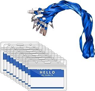 Zalava Lot de 40 porte-badges étanches avec cordons tours de cou Convient pour une entreprise, une exposition, au bureau e...