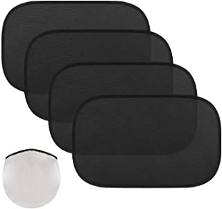 MoKo Car Window Sun Shades, 4 PACK Car Side Window Shield Cover Universal PVC Electrostatic Film Sun Shade Sticker for Sun...