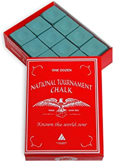 Silver Cup National Tournament Pool cue Billiard Premium Chalk - ONE Dozen