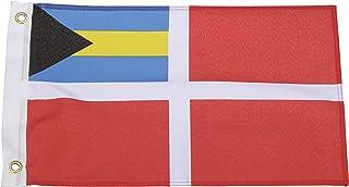Seachoice 78241 Bahamas Courtesy Flag � 18 x 12 Inch Nylon Flag � Canvas Header and Brass Grommets