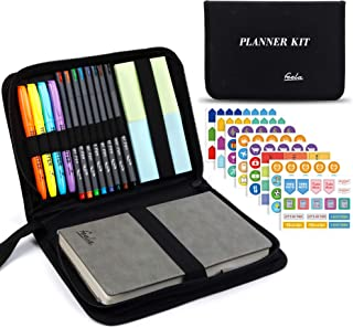 $27 » Sponsored Ad - Undated Planner, 2021 Monthly & Weekly Academic Planner Kit, Feela A5 Daily Student Notebook, School Suppli...
