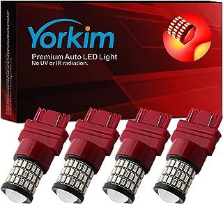 Yorkim 3157 LED Bulb 4pcs for reserve light backup light. 4 pack Red YK2746