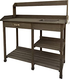 Garden Bloom 729BL Wood Potting Bench, Brown