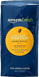 AmazonFresh Direct Trade Rwanda Whole Bean Coffee, Light Roast, 12 Ounce