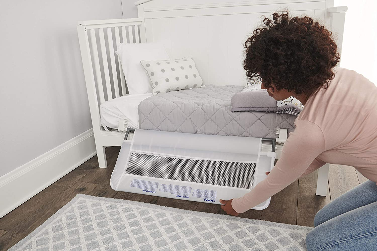 Regalo Swing Down Crib Rail, with Reinforced Anchor Safety System