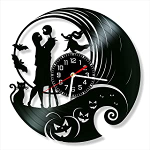 The Nightmare Before The Christmas Vinyl Clock, The Nightmare Before The Christmas Wall Clock 12 inch (30 cm), Original Gifts, The Best Home Decorations, Unique Art Decor, Original Idea for Home Decor