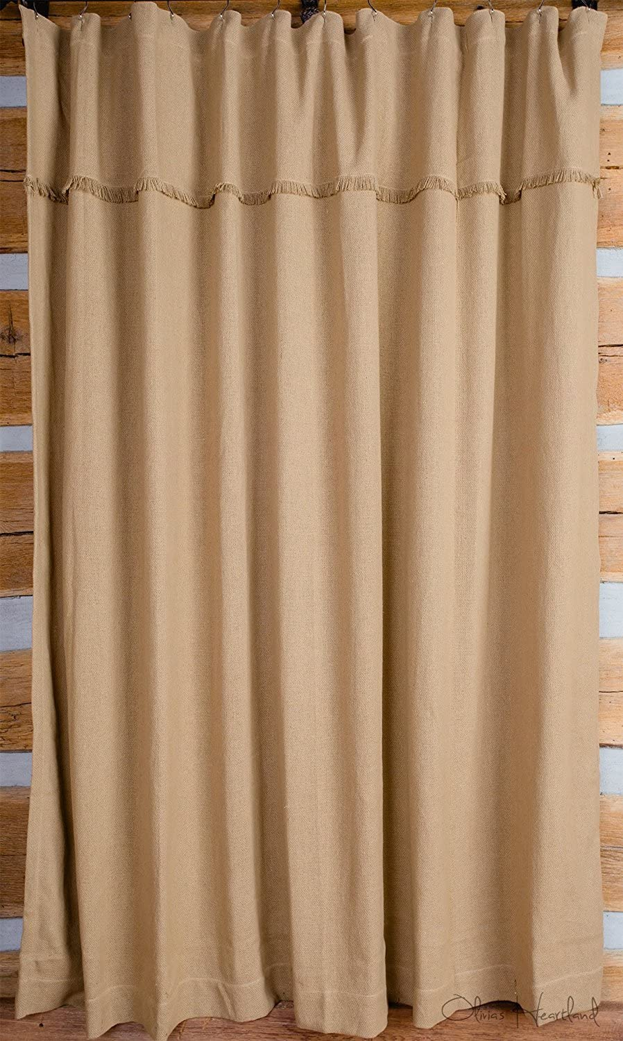 Olivia's 100% quality warranty! Heartland Deluxe Burlap Tan Curtain Max 49% OFF Natural Shower