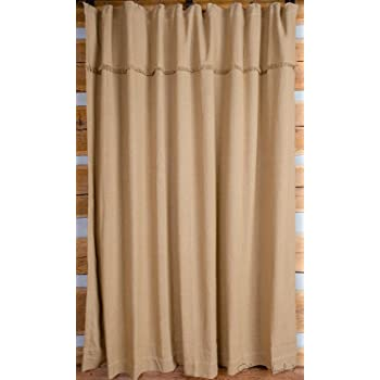 Olivia's Heartland Deluxe Burlap Shower Curtain (Natural Tan)