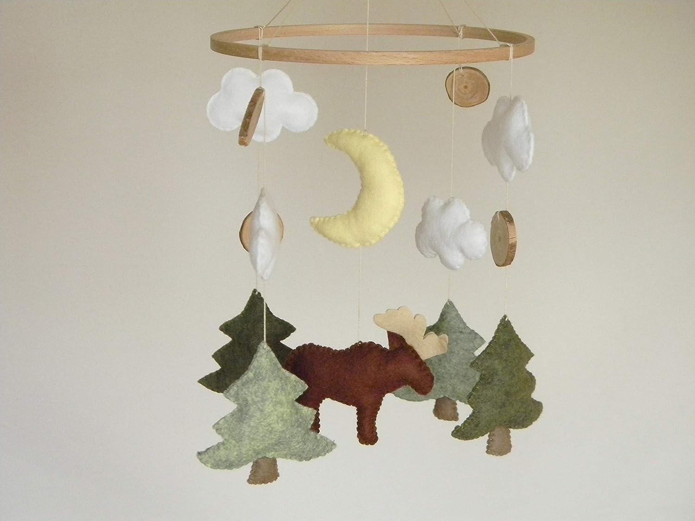 Baby mobile boy Moose Max 58% OFF nursery crib Trust Rustic Woodland