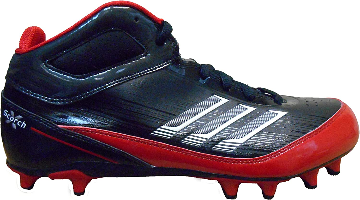 Adidas Men's AS SMU Scorch X Fly Mid NC Football Cleat
