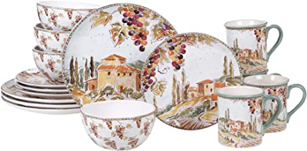Certified International 89061 Tuscan Breeze 16 piece Dinnerware Set, Service for 4, Multicolored