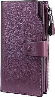 Women's Wallet RFID Blocking Large Capacity Luxury Wax...