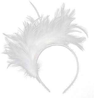 Felizhouse 1920s Fascinator Feathers Headband for Women Kentucky Derby  Wedding Tea Party Headwear Girls Flapper Headpiece f53dba67955