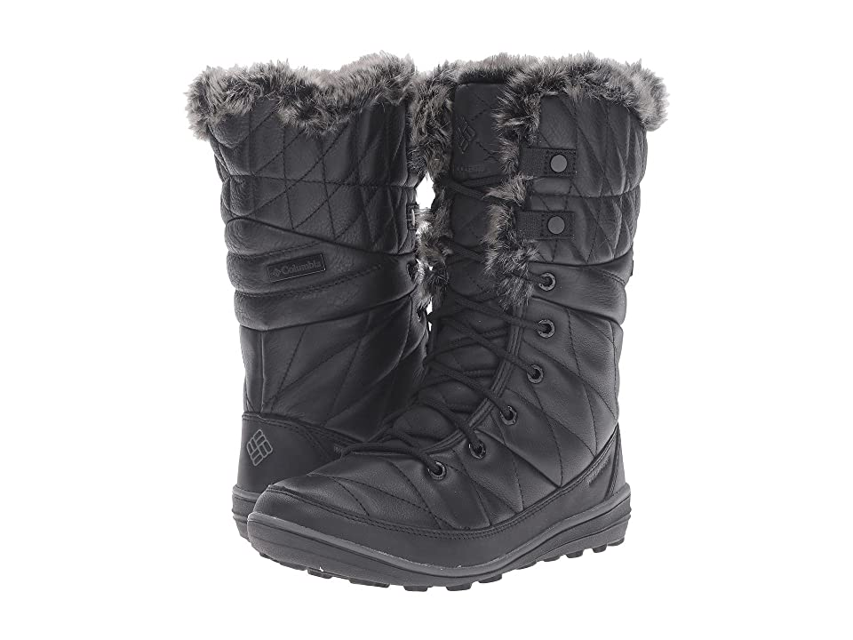 Columbia Heavenly Omni-Heat Leather After Dark (Black/Dark Fog) Women