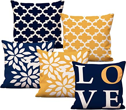 Aart Store Love Theme Multicolor Digital Printed Cushion Cover Set of 5 24x24 Inches