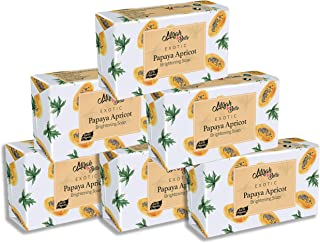 Mirah Belle - Organic Papaya Apricot Skin Brightening Soap Bar (Pack of 6-125 gm) - For Tanned and Fatigued Skin. Helps Wh...