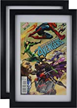 SC Comic Book Frame 2 Pack, White Acid-Free Matting, 98% Ultraviolet UV Protected, Insert Mat fits Comics up to 6 3/4