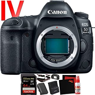 Canon EOS 5D Mark IV DSLR Camera (Body Only) (International Version) - 30.4 Megapixel - 4K Video with Pro Cleaning Kit Bundle and Sandisk Extreme Pro Memory Card