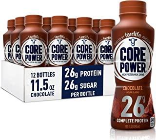 Core Power Protein Shakes (26g), Chocolate, No Artificial Sweeteners, Ready To Drink for Workout Recovery, 11.5 Fl Oz (Pack of 12)
