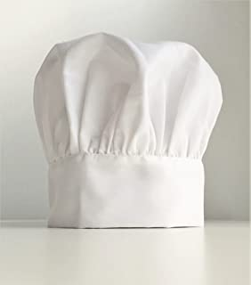 Master Chef Hat- CLASSIC Chef HAT - Adjustable Solid White Chef's Hat, One Size Fits All, features adjustable Velcro closures, Premium Quality. ME Supplies,COMFORTABLE, MEN, WOMEN CHEF HAT