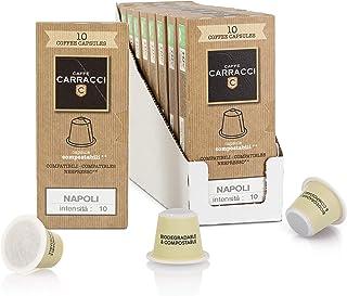 Caffè Carracci, Capsule Compostabili Compatibili Nespresso, Napoli - 100 Unità