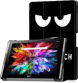 Funda de Lobwerk para la tableta Acer Iconia Tab 10A3-A50de 10,1pulgadas, con función Sleep/Wake, función atril y lápiz capacitivo negro C2