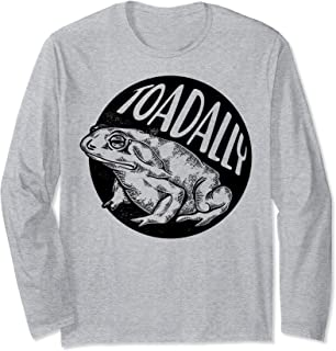 Toadally Toad Sketch Portrait Long Sleeve T-Shirt