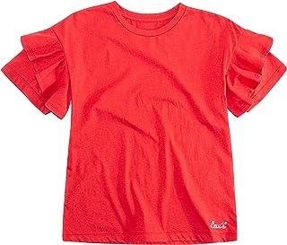Girls' Ruffled Oversized Knit T-Shirt
