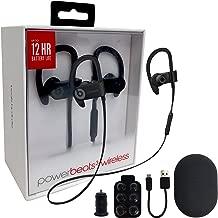 Beats by Dr. Powerbeats3 Wireless In-Ear Headphone W/MKK Car Adapter (Renewed) (Black)