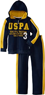 Little Boys' Zip-Up Fleece Hoodie and Pant
