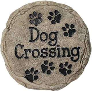 Spoontiques 13341 Dog Crossing Stepping Stone