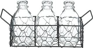 Darice 3 Glass Vase w/Metal Stand