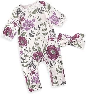 Spring Floral Romper & Headband + Hat Set for Newborns, Baby Girls & Toddlers, Multi