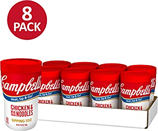 Campbell's Soup on the Go, Chicken & Mini Round Noodles, 10.75 Ounce (Pack of 8)