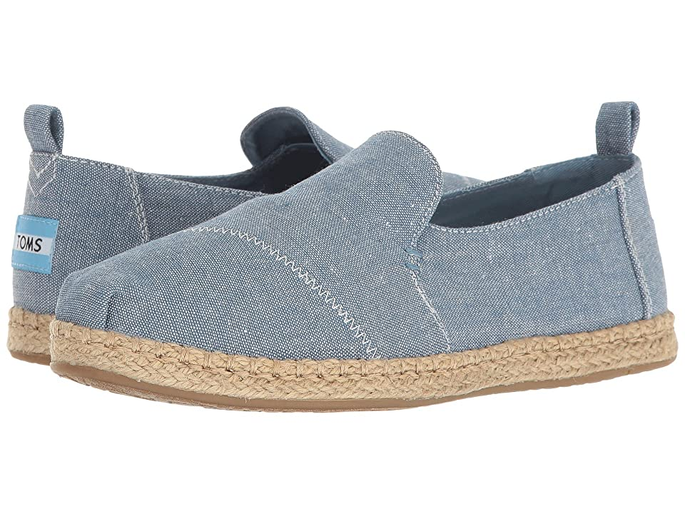 TOMS Deconstructed Alpargata (Blue Slub Chambray) Women