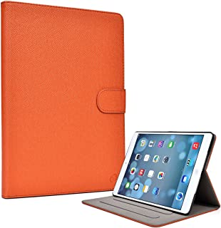 Slim Portable Folding Smart Stand Cover Case Protector for Apple iPad Air 9.7' 1 & 2 WiFi 4G LTE (Orange)