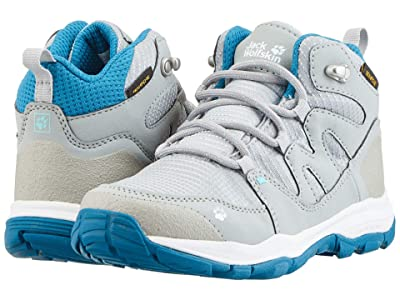 Jack Wolfskin Kids Mountain Attack 3 Texapore Mid (Toddler/Little Kid/Big Kid) (Grey/Blue) Boys Shoes
