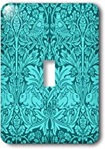 3dRose lsp_219025_1 William Morris Brer Rabbit Chintz in two tone turquoise Single Toggle Switch