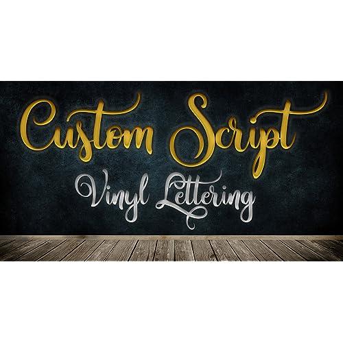 Custom Script Font Text Vinyl Personalized Lettering Decal Live Design (Vinyl)