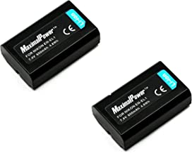 2-Pack Maximalpower replacement battery for NIKON EN-EL1 ENEL1 NIKON Coolpix 775, 880, 885, 995, 4300, 4500, 4800, 5000, 5400, 5700 & 8700 Konica Minolta DG-5W Dimage A200 Camera as NP-800 Digital Cameras, Fully Decoded (Pack-2)