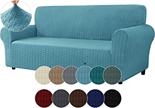 CHUN YI 1-Piece Loveseat Sofa Cover Couch Slipcover, 2 Seater Settee Coat Soft with Elastic Bottom, Houndstooth Spandex Ja...