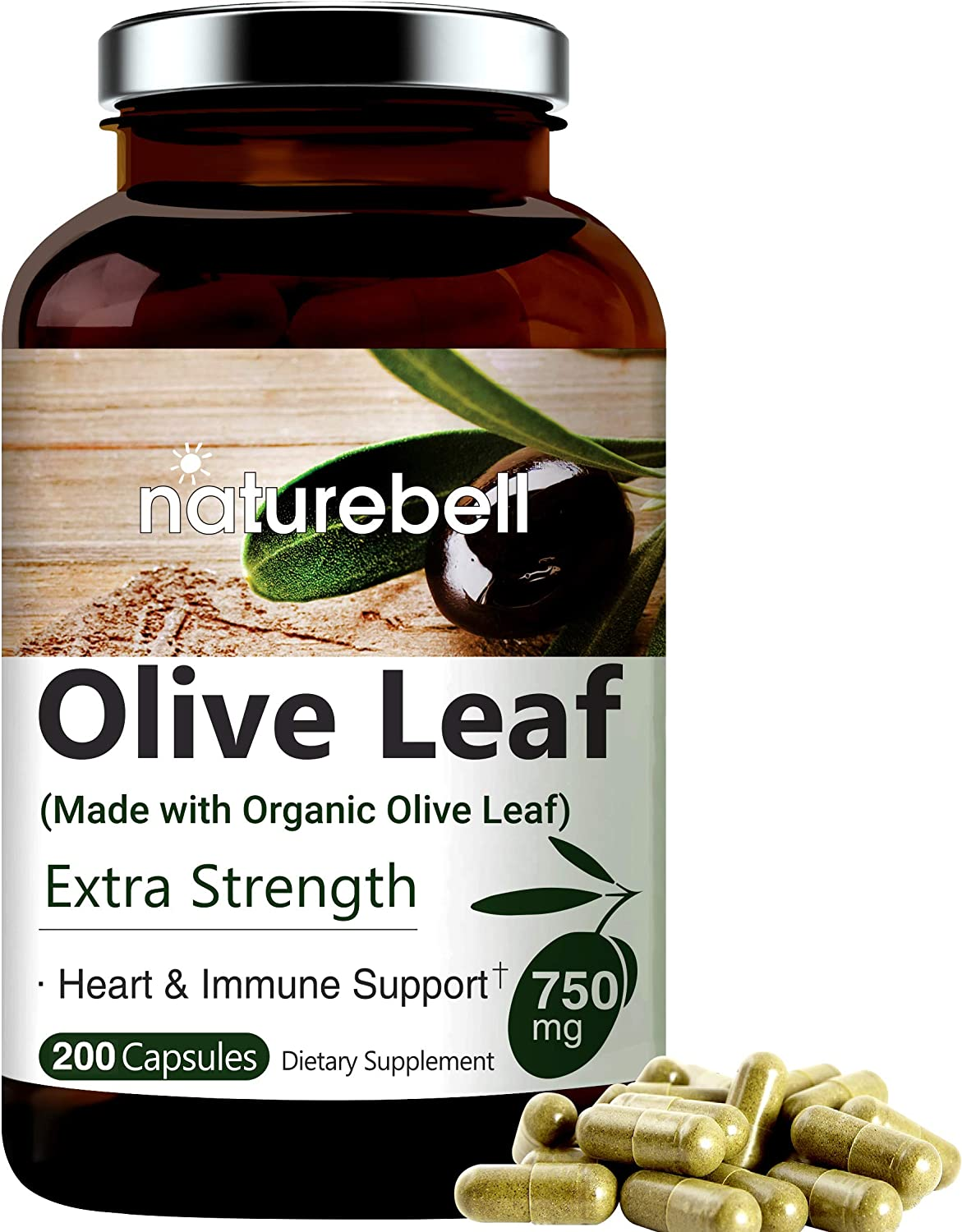 Olive Leaf Extract 750mg 200 with Special sale item Capsules Tucson Mall Organic Made