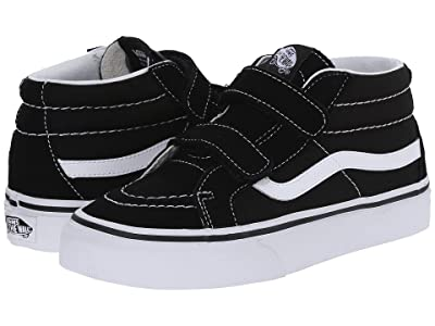 Vans Kids SK8-Mid Reissue V (Little Kid/Big Kid) (Black/True White) Kids Shoes