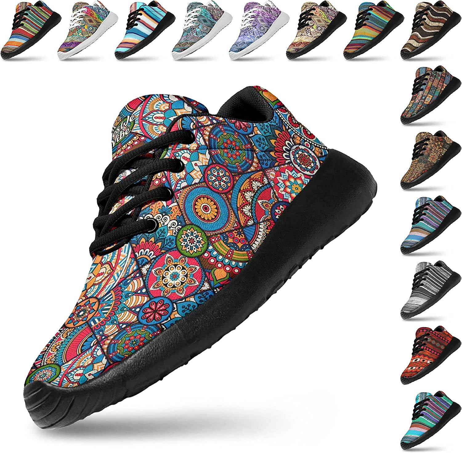 Artful Vibes Womans Lightweight Athletic Sneaker Jogging Fashion 2021 spring and summer new Virginia Beach Mall