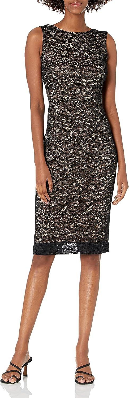 Dress the Population Women's Kendra Midi High Dress, Black, X-Small