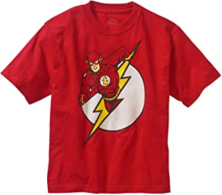 DC Comics Boys Flash Character Logo T-Shirt (8) Red