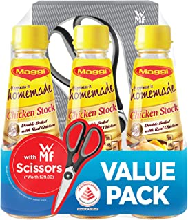 MAGGI Concentrated Chicken Stock Value Pack + Free WMF Kitchen Accessories, 250g (Pack of 3)