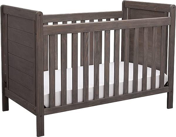 Serta Cali 4 In 1 Convertible Baby Crib Rustic Grey