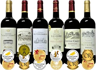 ALL金賞受賞(ダブル金賞入・トリプル金賞入) 赤ワイン6本セット フランス ボルドー産 ソムリエ厳選 750ml×6本